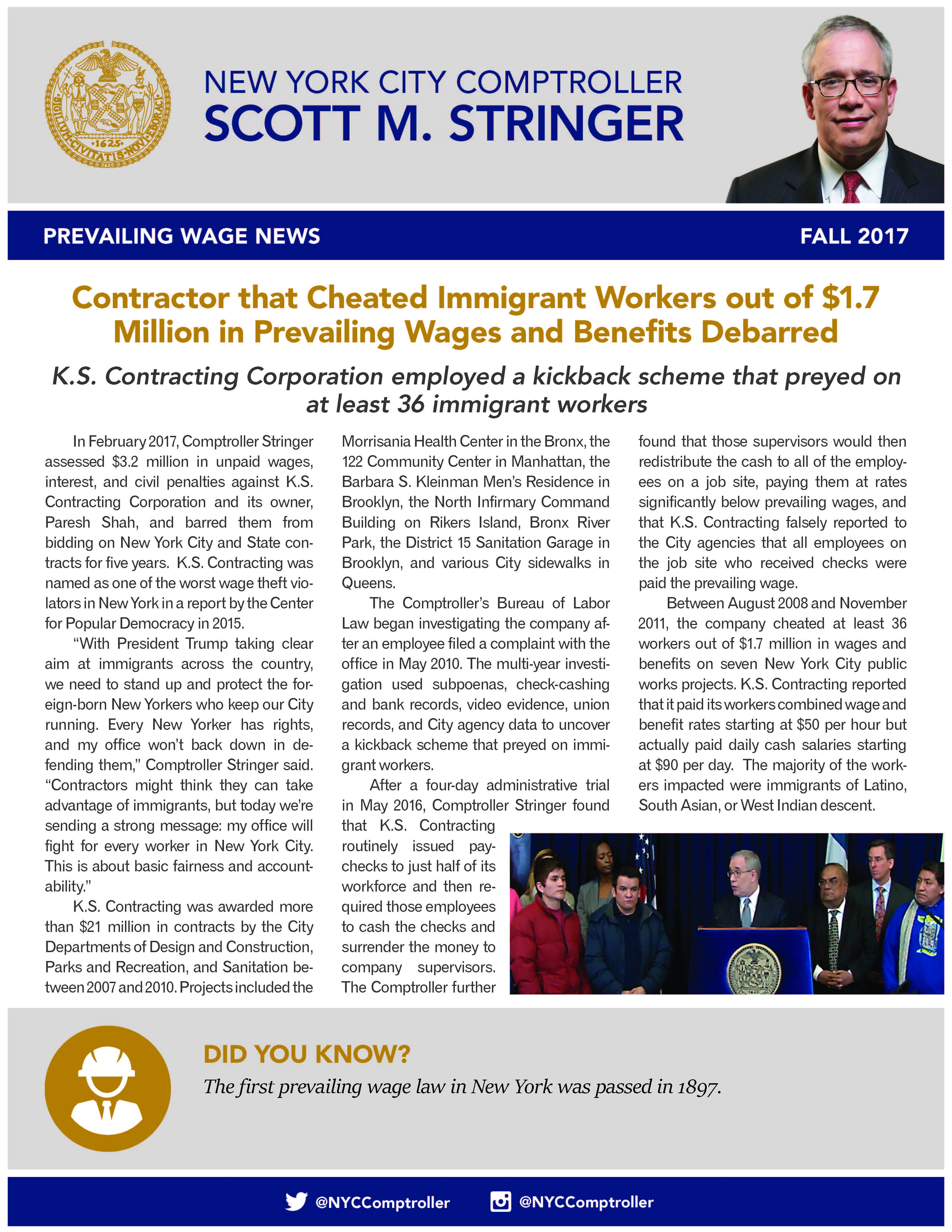 Wage Schedules : Office of the New York City Comptroller