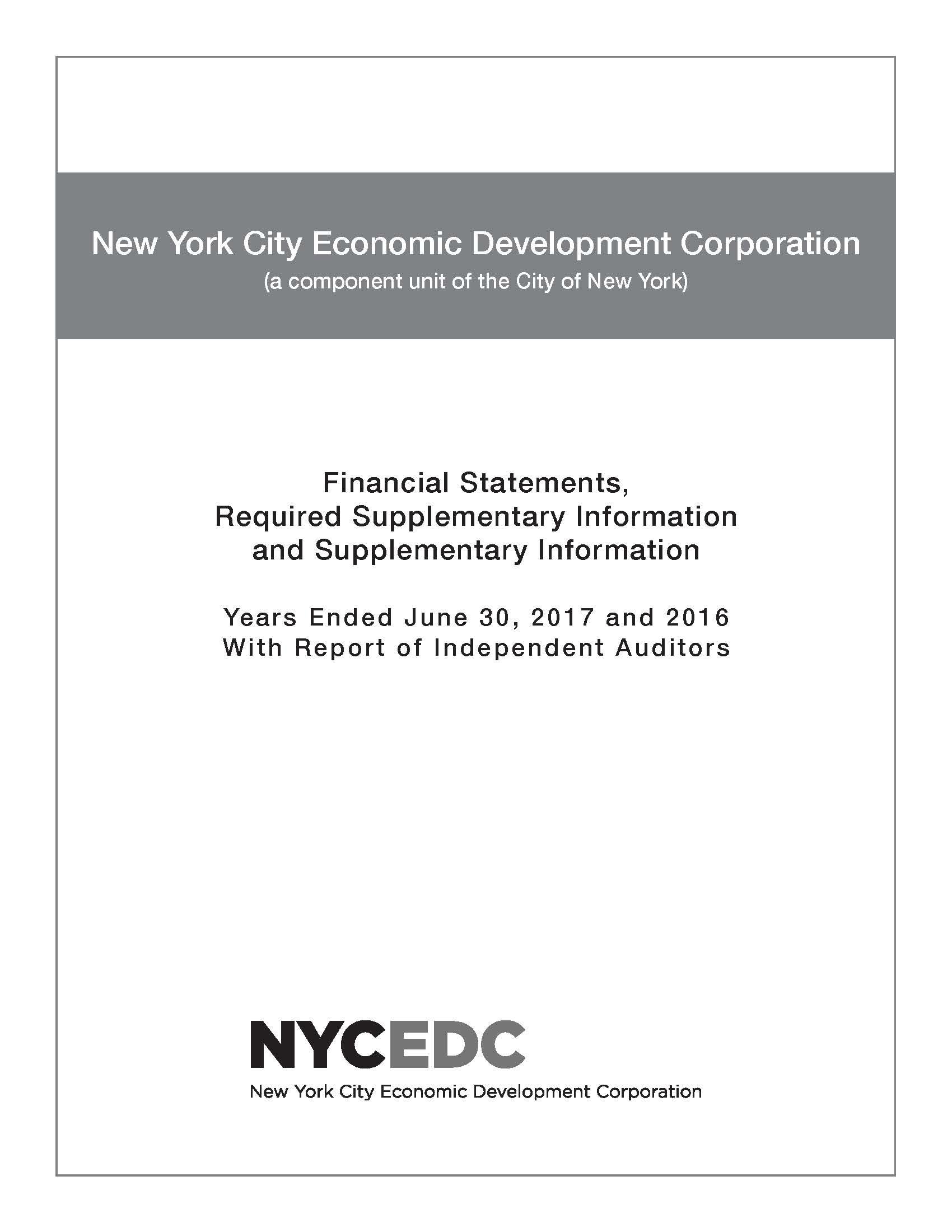 New York City Economic Development Corporation And Affiliates