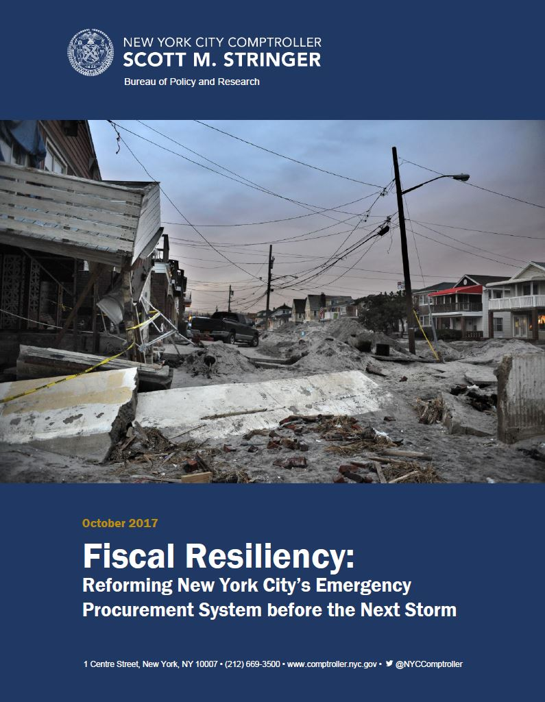 Fiscal Resiliency: Reforming New York City's Emergency Procurement