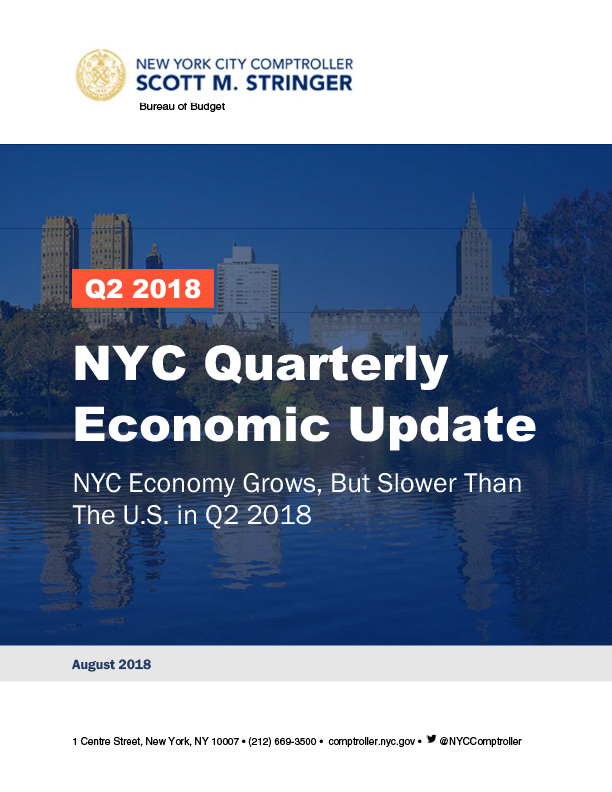 NYC Quarterly Economic Update : Office of the New York City ...