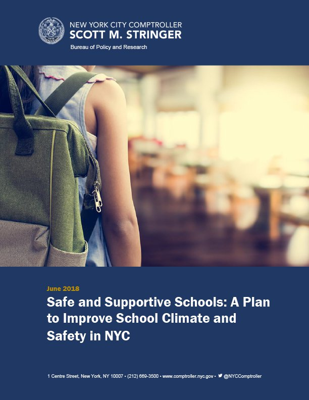 Safe and Supportive Schools: A Plan to Improve School