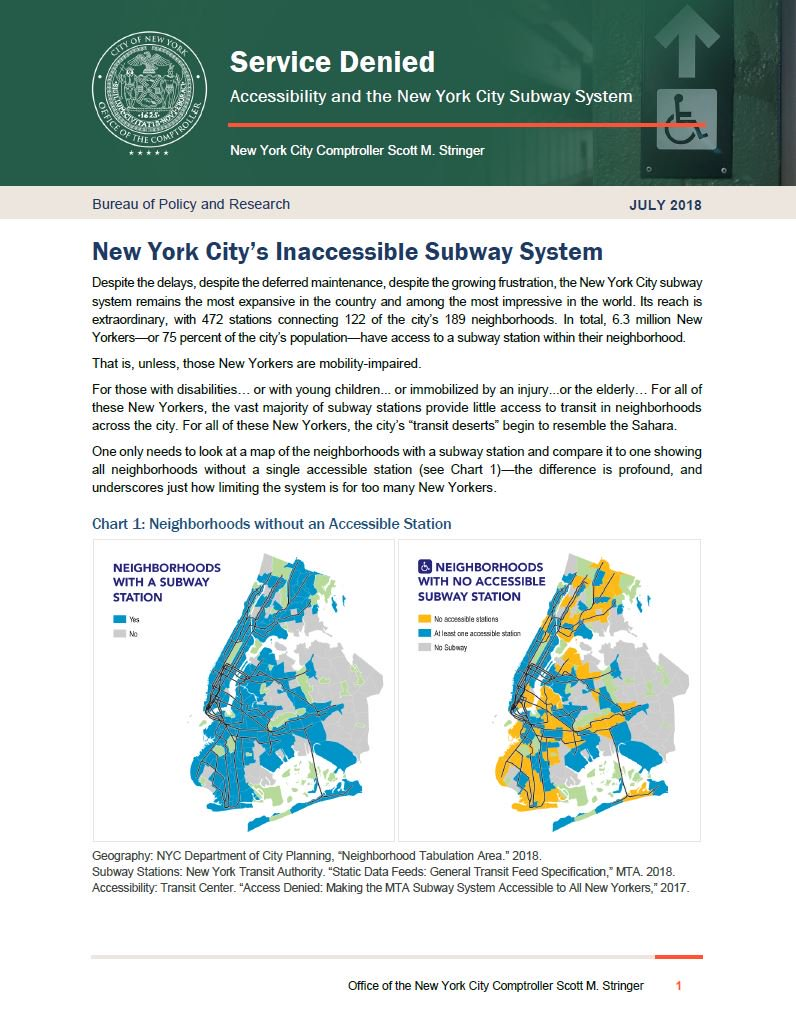 Nyc Handicap Subway Map.Service Denied Accessibility And The New York City Subway System