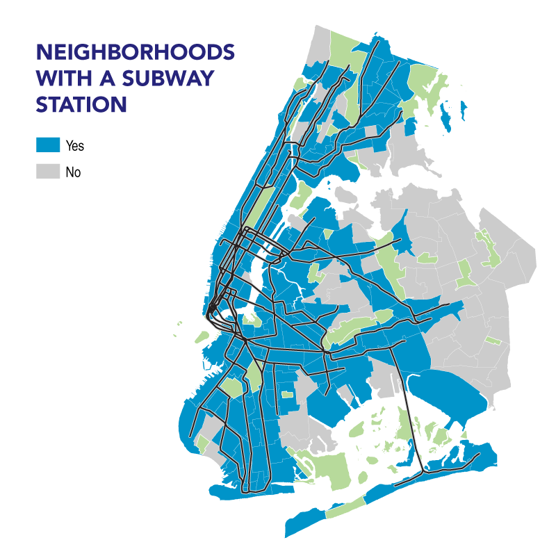 Nyc Neighborhood With Subway Map.Service Denied Accessibility And The New York City Subway System