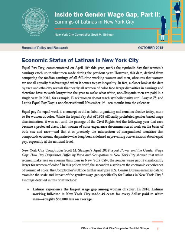 Inside the Gender Wage Gap, Part II: Earnings of Latinas in