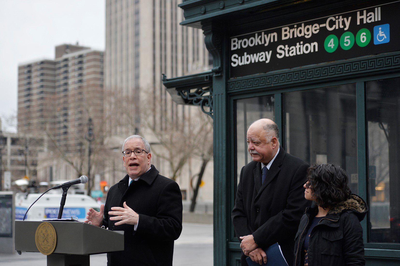 NYC Comptroller Scott M. Stringer joined by the Community Service Society and Riders Alliance.