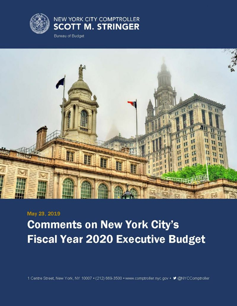 Dsny Chart Calendar 2020 Comments on New York City's Fiscal Year 2020 Executive Budget
