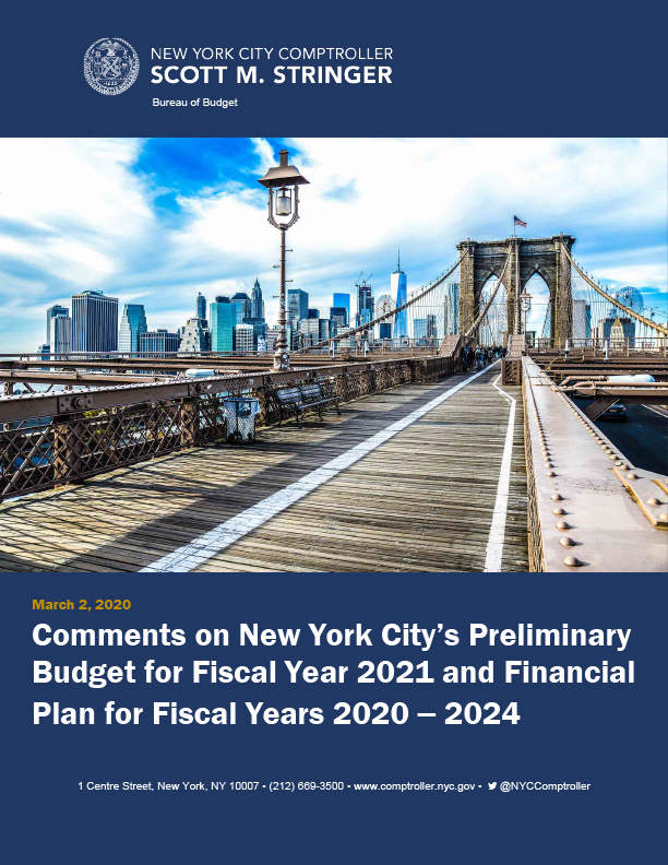 Comments on New York City's Preliminary Budget for Fiscal Year