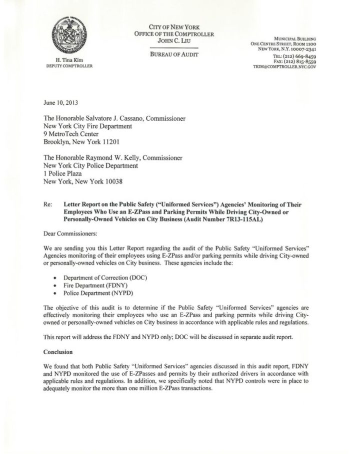 Vehicle Service Department Letter >> Letter Report On The Public Safety Uniformed Services Agencies