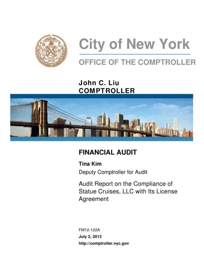 Audit Report On The Compliance Of Statue Cruises Llc With Its