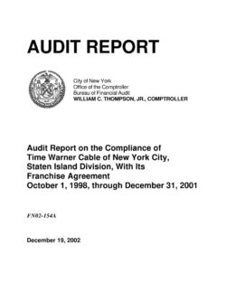 Audit report on the compliance of time warner cable of new york audit report on the compliance of time warner cable of new york city staten island division with its franchise agreement platinumwayz