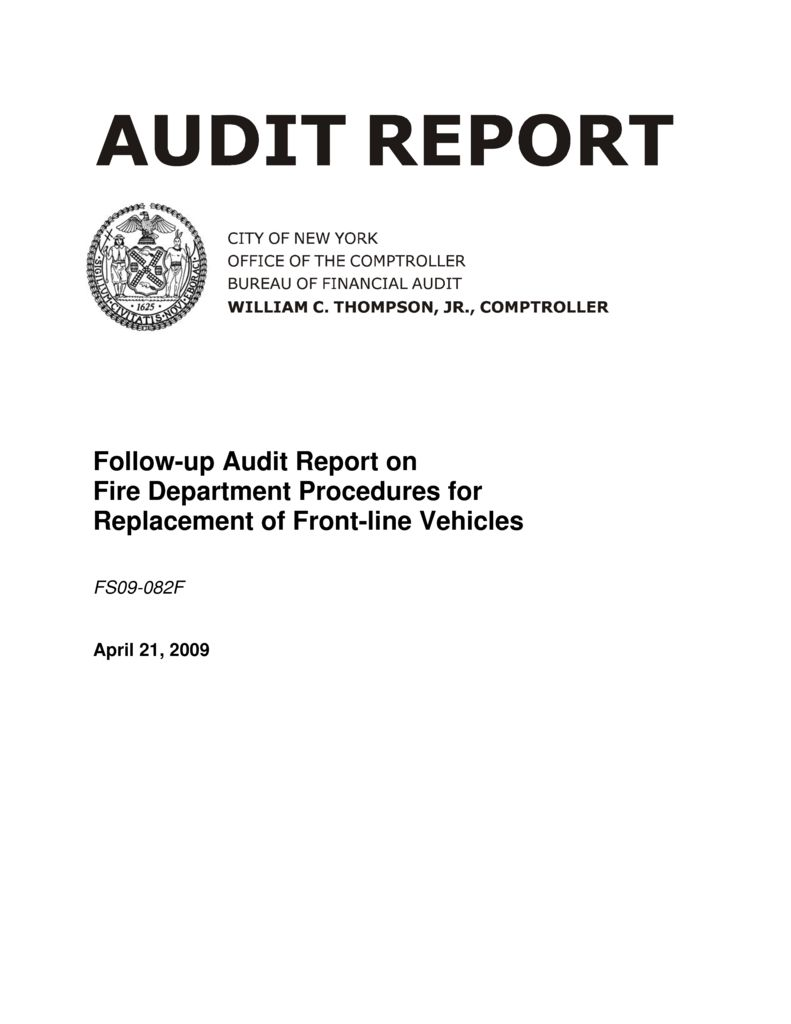 Follow-Up Audit Report on Fire Department Procedures for