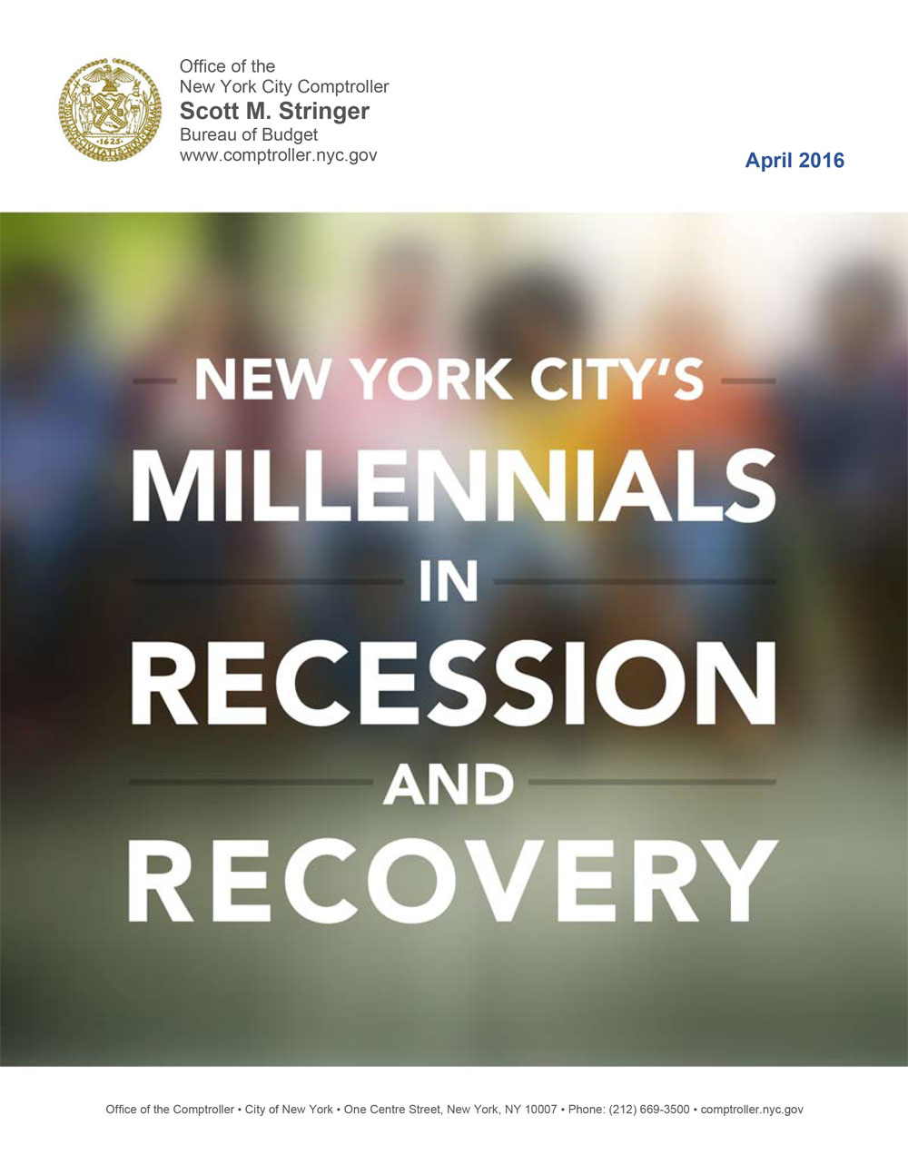 New York Citys Millennials In Recession And Recovery Office Of