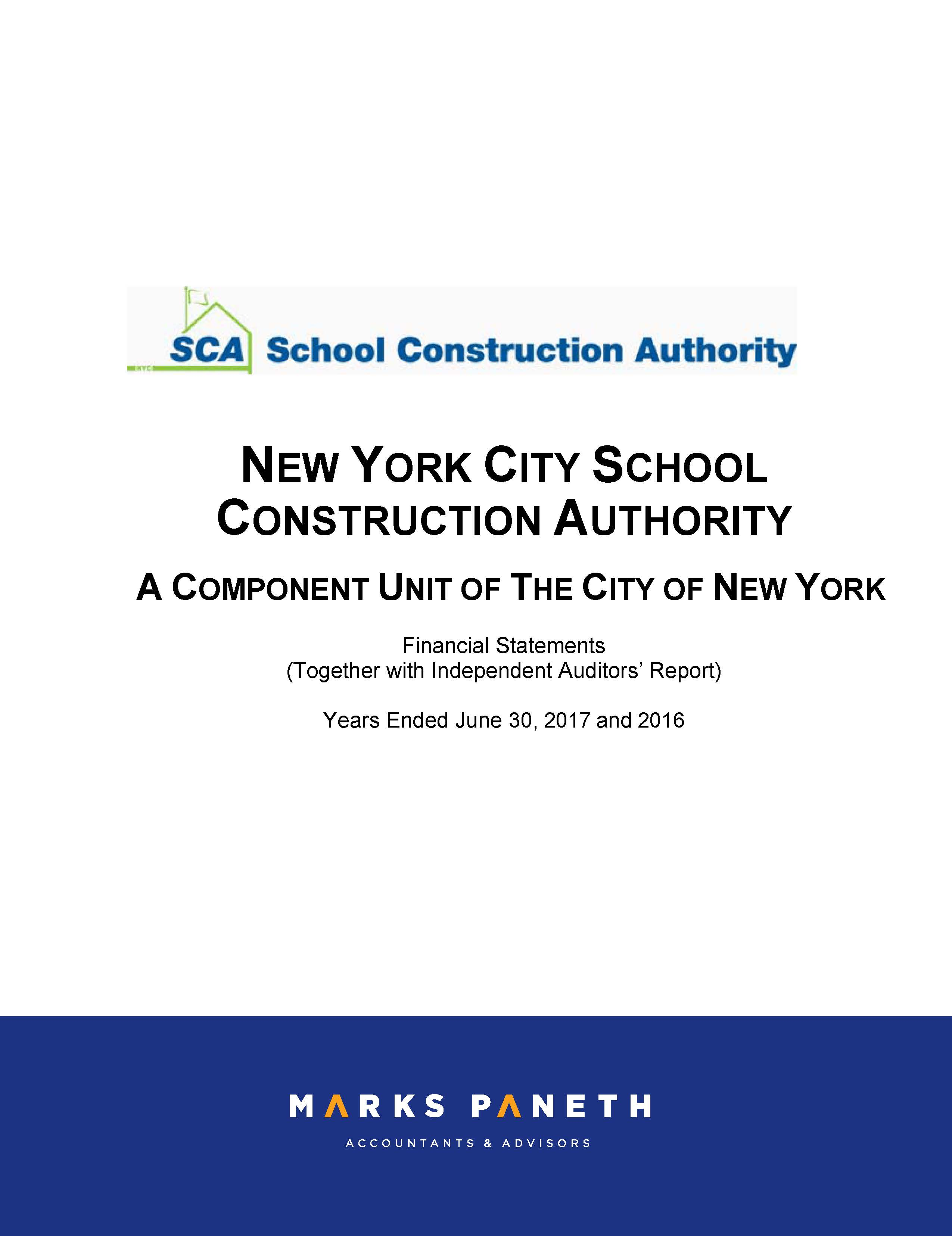 Nyc Component Units Financial Statements Office Of The New York